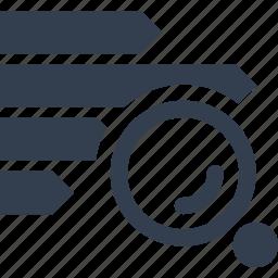 analyzing, chart, magnifying glass, marketing, optimization, report, search, seo, statistics, strategy icon