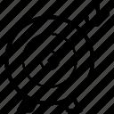 bullseye, company objective board, dart board, project target, target board