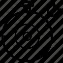 bullseye, company objective board, dart board, project target, target board icon