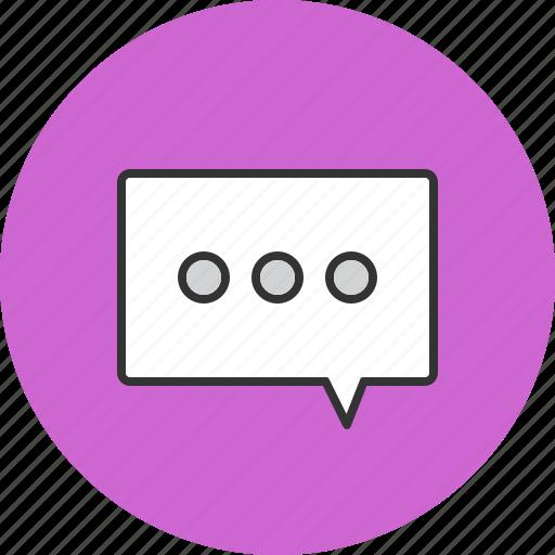 bubble, chat, messenger, talk icon