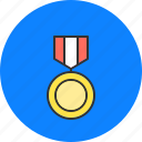 champion, honor, medal, medallion, win, winner icon