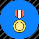 champion, honor, medal, medallion, win, winner