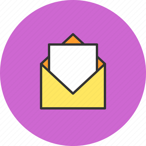 communication, contact, email, open icon