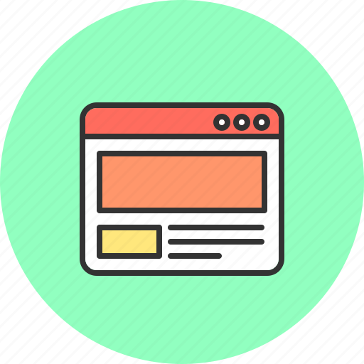 internet, layout, page, template, web, website icon