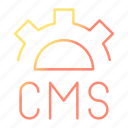 blog, cms, design, development, web icon