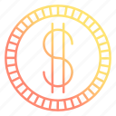 coin, currency, dollar, money