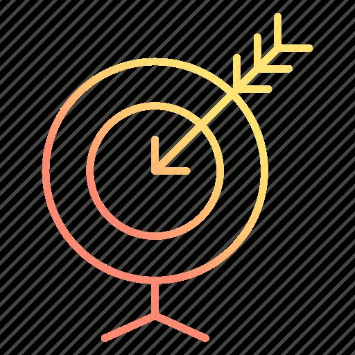 arrow, focus, goal, target icon