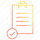 checklist, clipboard, list, survey icon