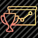 business, chart, data, graph, winner icon