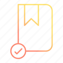accept, book, education, learning, school, study icon