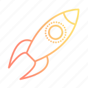 marketing, rocket, seo, space, startup icon