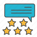 audience, customer, feedback, ranking, stars icon