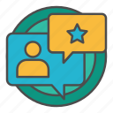 audience, feedback, improvement icon