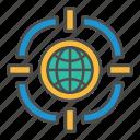 audience, global, narrowing, target, targeting icon