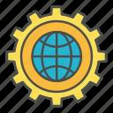 global, programming, seo, work icon