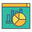 chart, monitoring, result, search results icon