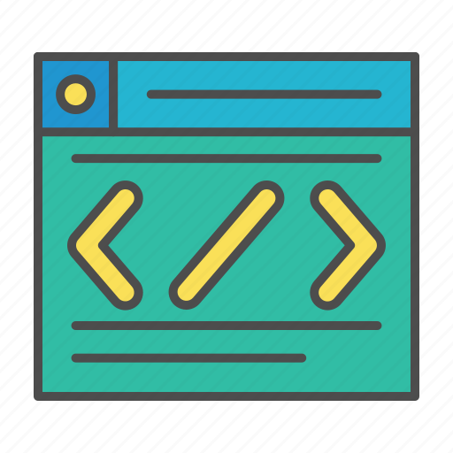 code, optimization, program, web, website icon