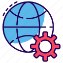 global configuration, global maintenance, global preference, global setting, worldwide options icon