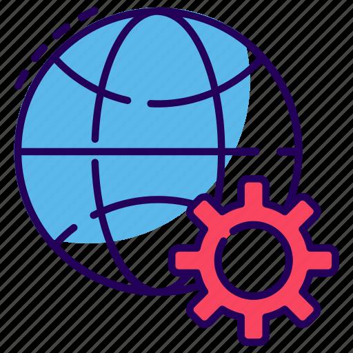 global configuration, global maintenance, global preference, global setting, worldwide options icon