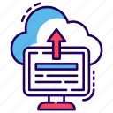 cloud computing, cloud data, cloud services, cloud storage, cloud upload icon