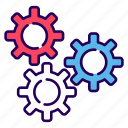 cogs wheel, configurations, gears, options, preferences, settings, settings tool icon