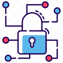 cyber security network, data encryption, protected network, safe network, secure network icon