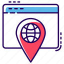 network location, site navigation, user interface, web location, website navigation icon