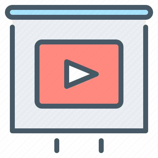 flipchart, instruction, video, video instruction, webinar icon