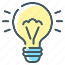 bulb, creative, creative idea, idea, light icon