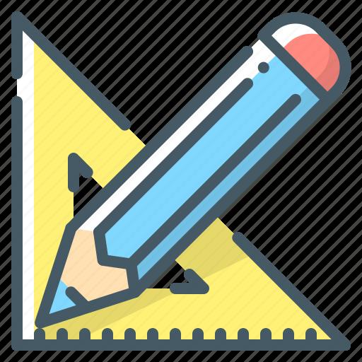 design, draw, pencil, ruler icon