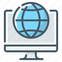 globe, hosting, internet, web, web hosting icon