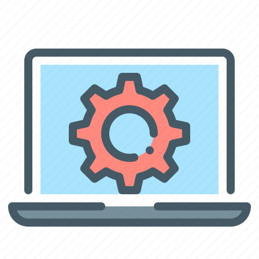 Cogwheel, gear, laptop, setting icon - Download on Iconfinder