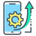 mobile, gear, cogwheel, seo, ios, optimization, development
