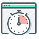 response, response time, stopwatch, time, website icon