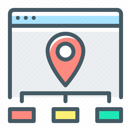 map, navigation, site, site map, website icon
