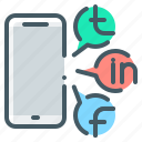 media, mobile, phone, social, social media icon
