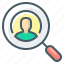 audit, loup, magnifier, usability, usability audit, user icon
