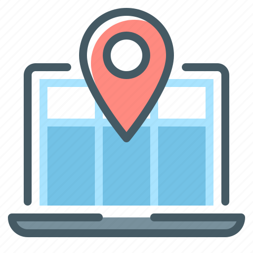 laptop, navigation, web, web navigation icon