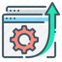 cogwheel, development, gear, seo, web development, website icon