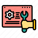 marketing, optimization, seo, support, technical, technology, web icon