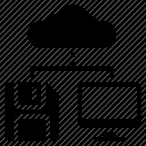 Cloud connection, cloud storage, internet backup, internet connection, internet storage, networking, online backup icon - Download on Iconfinder