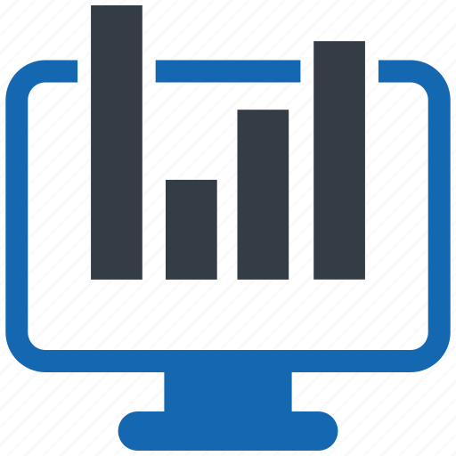 analytics, chart, data, monitor, report, statistics, traffic icon
