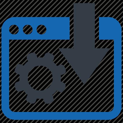 document, internet, landing, network, optimization, page, web icon