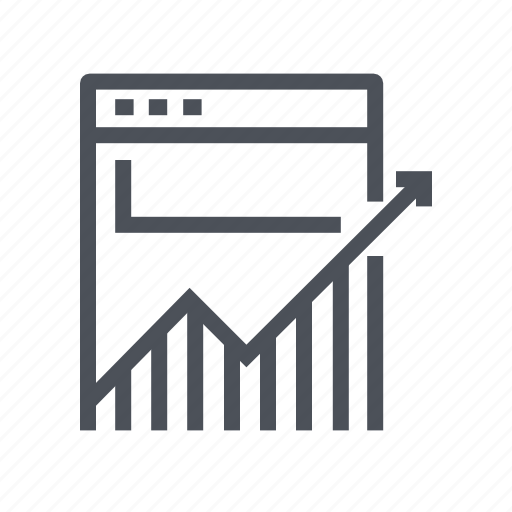 analytics, business, chart, growth, traffic icon