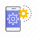 design, mobile, optimization, seo, smartphone icon