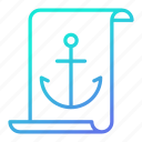 anchor, article, document, seo icon