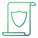 copyright, document, protection, security icon