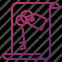 document, key, keywords, seo and web optimization icon