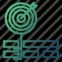focus, goal, keywords, target icon