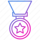 gift, medal, prize, winner icon